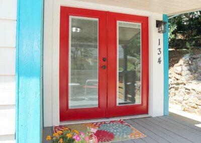 Red doors to patio Electric Street Auburn CA