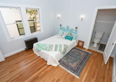 Bedroom with half-bath