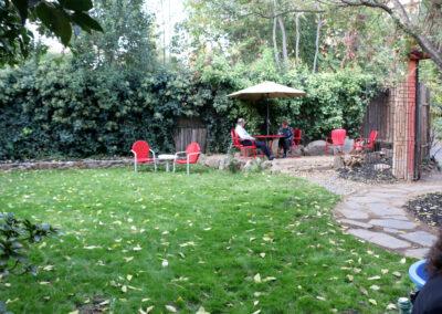 Backyard end patio