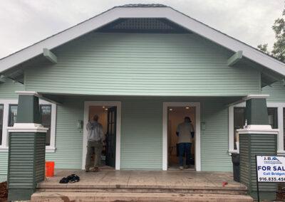 Front door view of Roseville duplex