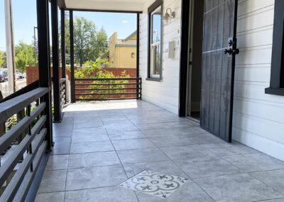Classy unique style front porch